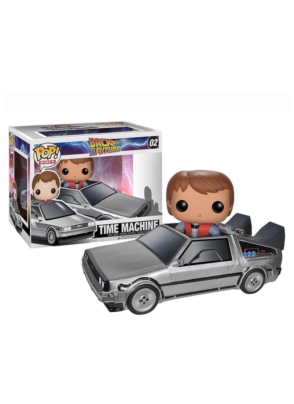 BACK TO THE FUTURE DELOREAN CAR WITH MARTY MCFLY P