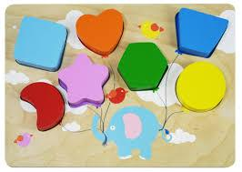 Flying Balloon Chunky Shape Puzzle