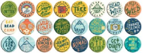 Camp Happy Buttons