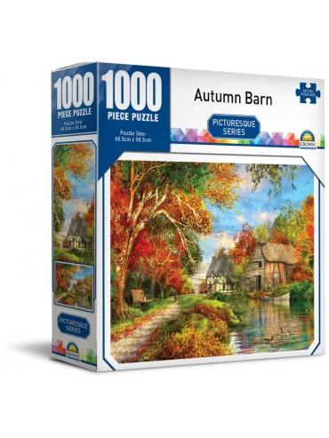 Autumn Barn Picturesque 1000 Piece Jigsaw Puzzle