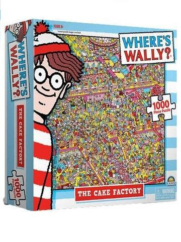 Cake Factory Wheres Wally 1000 Piece Jigsaw Puzzle