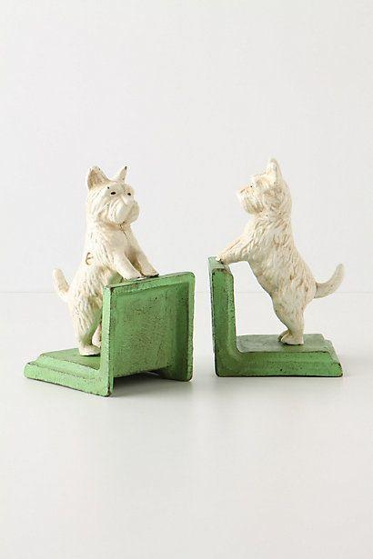 WESTIE WHITE BOOKENDS (2)