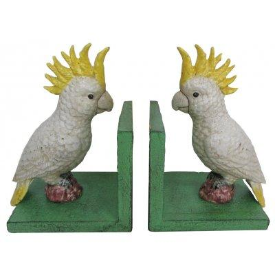 COCKATOO GREEN BASE BOOKENDS (2)
