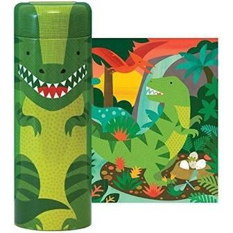 Dinosaur 64-Piece Tin Canister Puzzle
