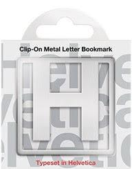 H Clip-On Letter Bookmark