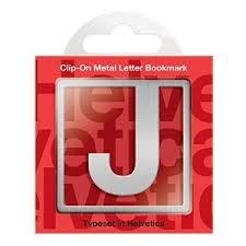 J Clip-On Letter Bookmark