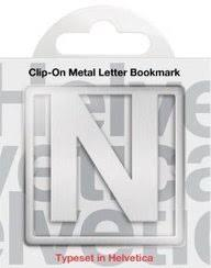 N Clip-On Letter Bookmark