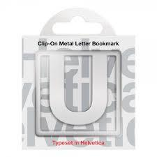 U Clip-On Letter Bookmark