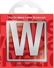 W Clip-On Letter Bookmark