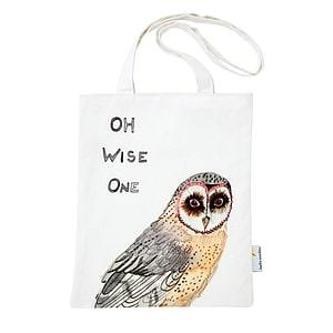 MEDIUM TOTE WISE OWL