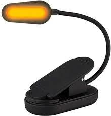 Amber Book Light Rechargeable Black