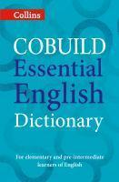 Collins Cobuild Essential English Dictionary