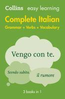 Collins Easy Learning Complete Italian Grammar Ve