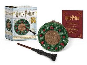 Harry Potter Hogwarts Christmas Wreath and Wand S