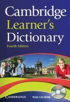 CAMBRIDGE LEARNER S DICTIONARY WITH CD-ROM 4TH EDITION