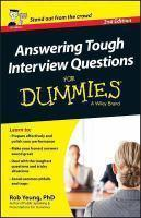 Answering Tough Interview Questions For Dummies, 2nd Edition