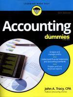 Accounting for Dummies 6th Edition