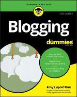 Blogging for Dummies 7th Edition