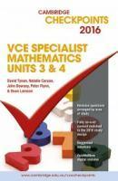 Specialist Maths Units 3&4 Checkpoints 2016