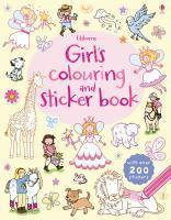Girl's Colouring and Sticker Book