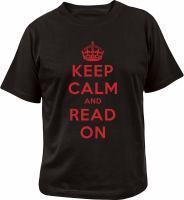 Keep Calm and Read On T-shirt medium