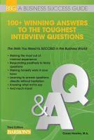 100+ Winning Answers to the Toughest Interview Que