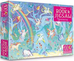 Usborne Book and Jigsaw Unicorns