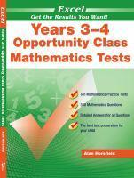 Opportunity Class Mathematics Tests Years 3-4
