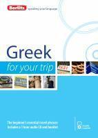 Berlitz Language Greek For Your Trip