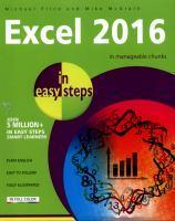 Excel 2016 in Easy Steps