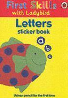 FIRST SKILLS LETTERS STICKER BK & PENCIL