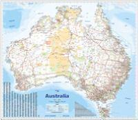 AUSTRALIA WALL MAP LARGE LAMINATED IN TUBE