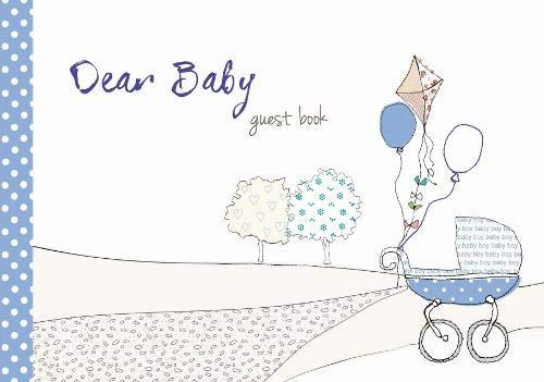 Dear Baby Guest Book Blue